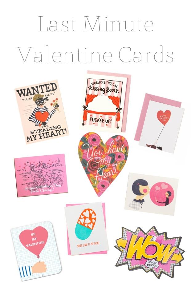 Last Minute Valentine Cards